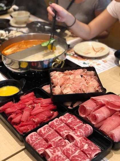 Suki-Ya Japanese buffet meal.