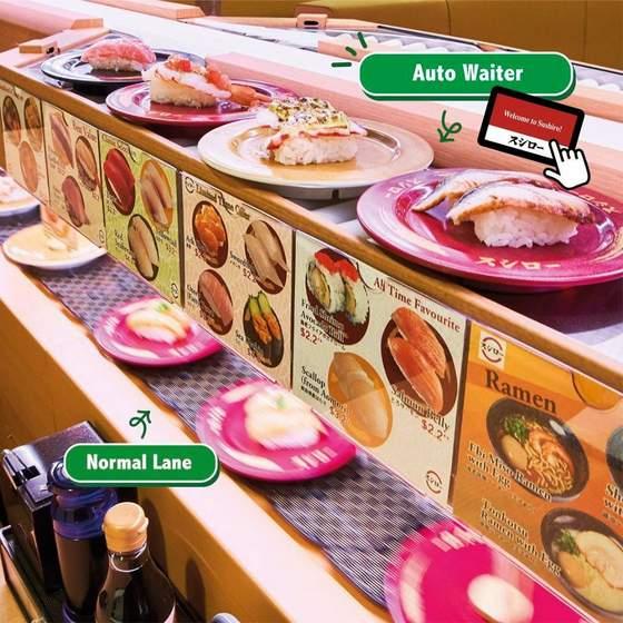 Sushiro conveyor belt sushi.