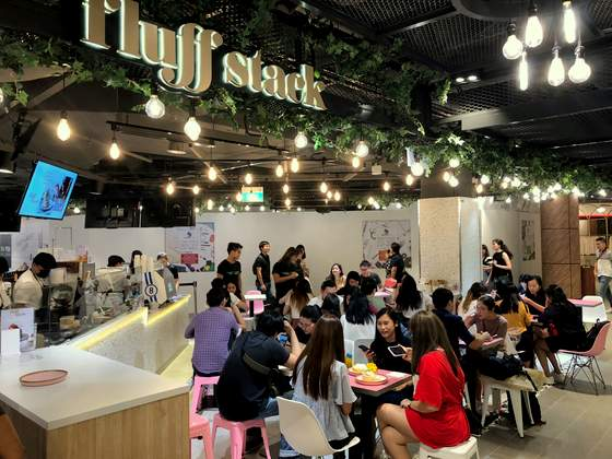 Fluff Stack Singapore - Outlet at Suntec City Mall.