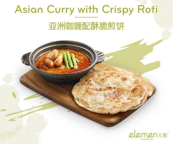 Asian Curry with Crispy Roti.