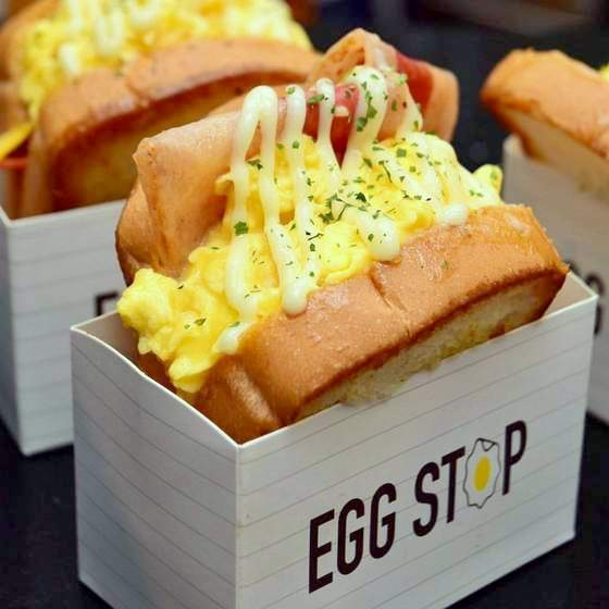 Egg Stop sandwich.