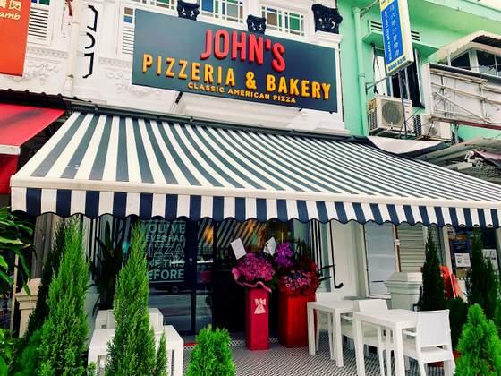 John's Pizzeria & Bakery - American Pizza in Singapore - 226 Tanjong Katong Road.