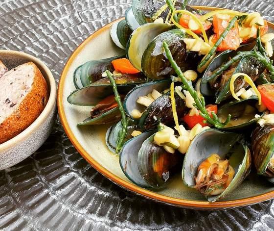 The Botanic seafood meal.