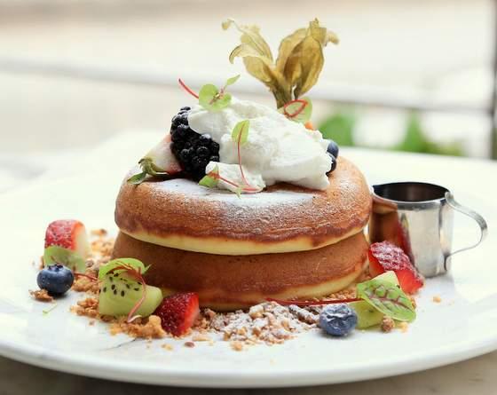 Crown Bakery & Cafe pancakes.