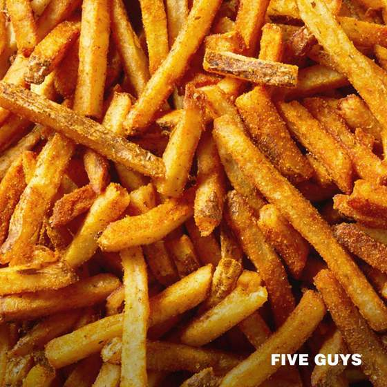 Five Guys Fries - Cajun Style French Fries.