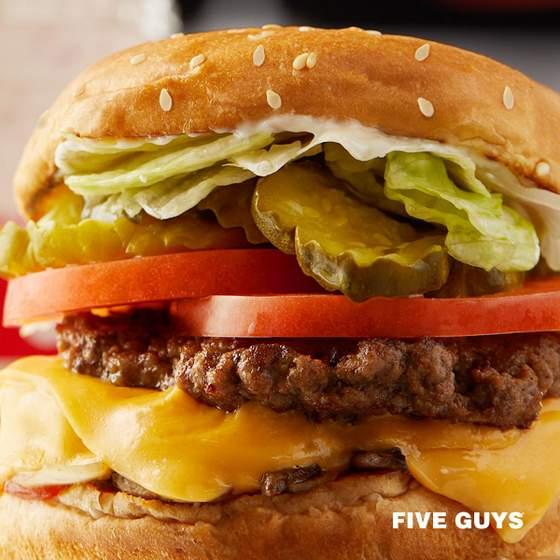 Five Guys hamburger.
