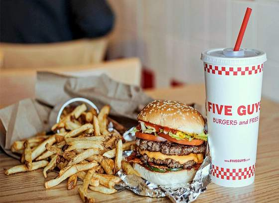 Five Guys Singapore - Fries and Burgers - Burger Restaurants in Singapore.