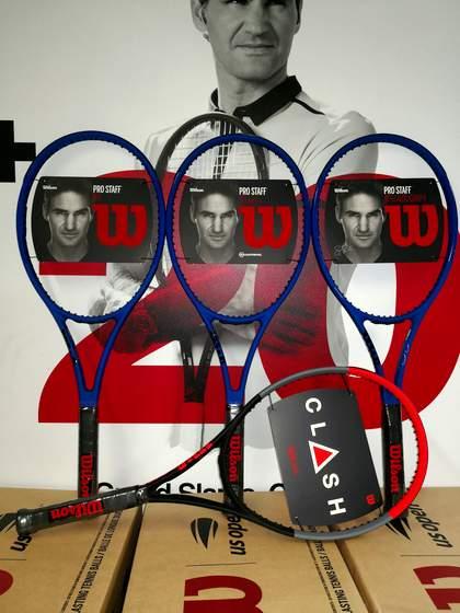 Wilson Clash 100UL tennis racket.