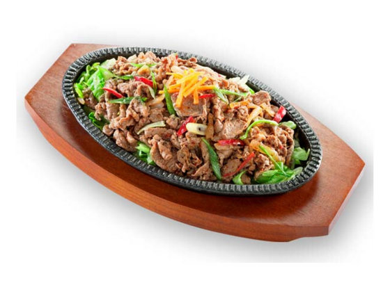Hot Plate Beef Set - Sunny Korean Cuisine - Cheap Korean Food in Singapore.