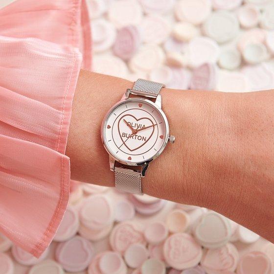 Olivia Burton Heart Watch - Trendy Watches in Singapore.