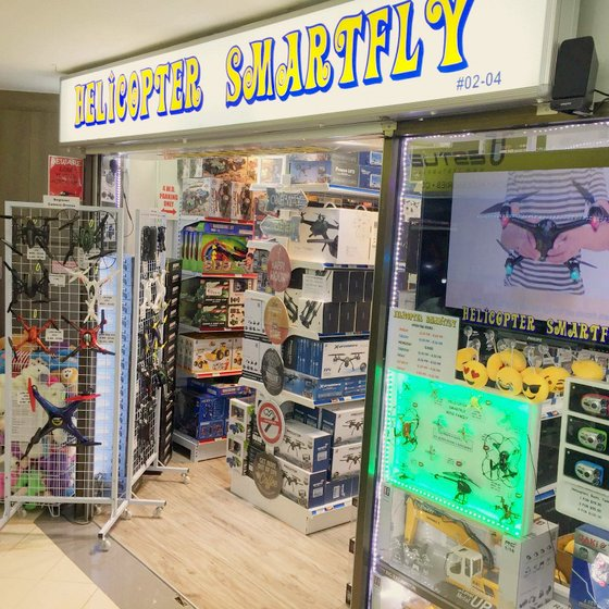 Helicopter Smartfly - Drone Store in Singapore - Queensway Shopping Centre.