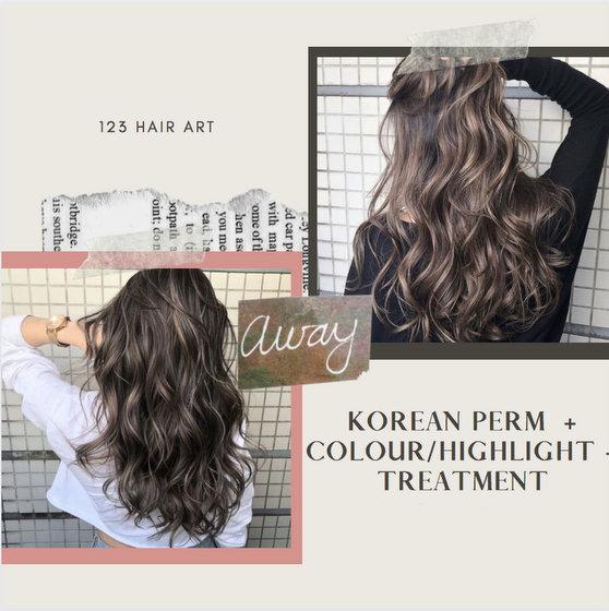 Korean Perm in Singapore - 123 Hair Art.