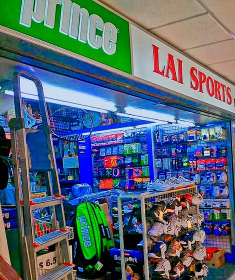 Lai Sports - Tennis Shop in Singapore - Lucky Plaza.