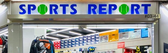 Sports Report - Tennis Shop in Singapore.