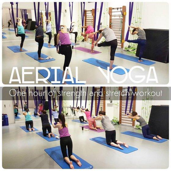 Aerial Yoga Classes in Singapore - Aerial Fitness Studio.