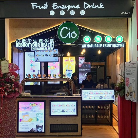 Cio Enzyme Drink - Fruit Enzyme Drinks in Singapore - Aperia Mall.