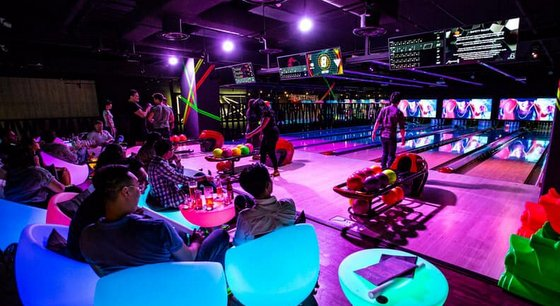 K Bowling Club 313@Somerset - Cosmic Bowling Centre in Singapore.