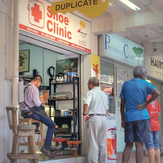 Shoe Clinic - Shoe Restoration in Singapore - Redhill Shopping Centre.