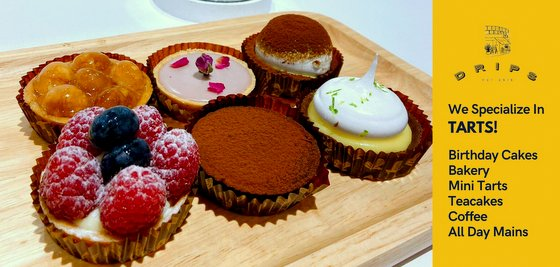 Chocolate Tarts in Singapore - Drips Bakery Cafe.