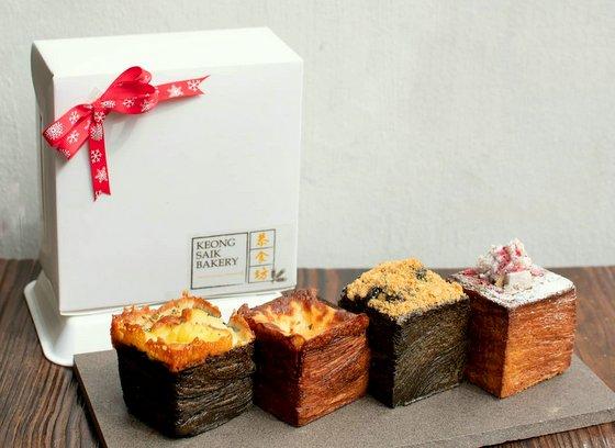 Croissant Cubes in Singapore - Keong Saik Bakery.