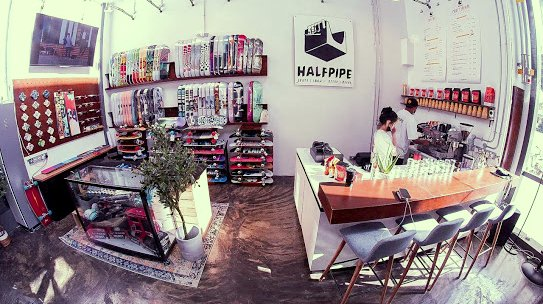 Themed Bar in Singapore - Halfpipe Skate Bar.