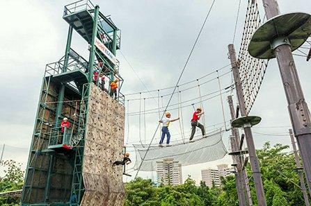 Adventure Centre - Zipline in Singapore.
