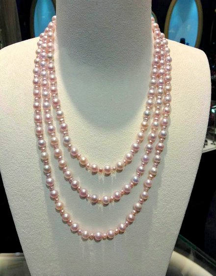 Long Pearl Necklace in Singapore - Unique Fine Pearl & Gem.