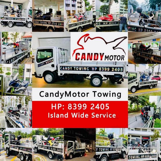 Motorcycle Towing Service in Singapore - CandyMotor.