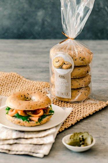 Onion Sesame Bagels in Singapore - Baker & Cook Artisan Bakery & Foodstore.