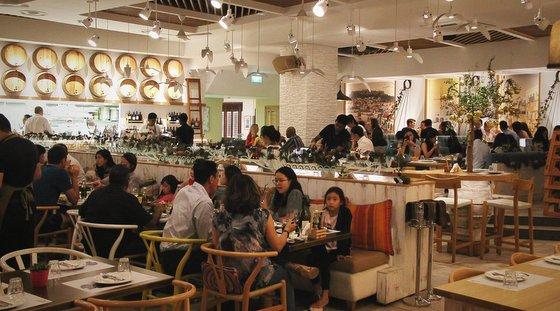 Bakalaki Greek Taverna in Singapore.