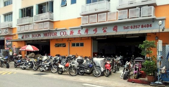 Sin Boon Motor Co. - Motorbike Repair in Singapore.