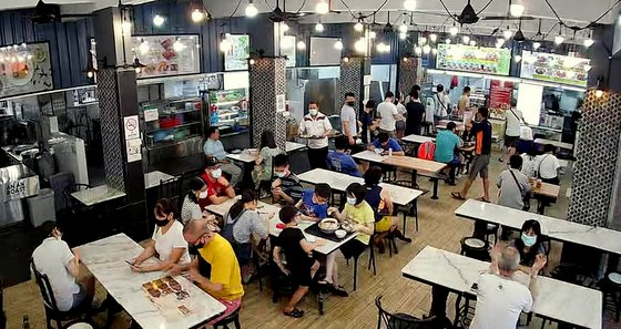 Winner's Fried Chicken Restaurant in Singapore.