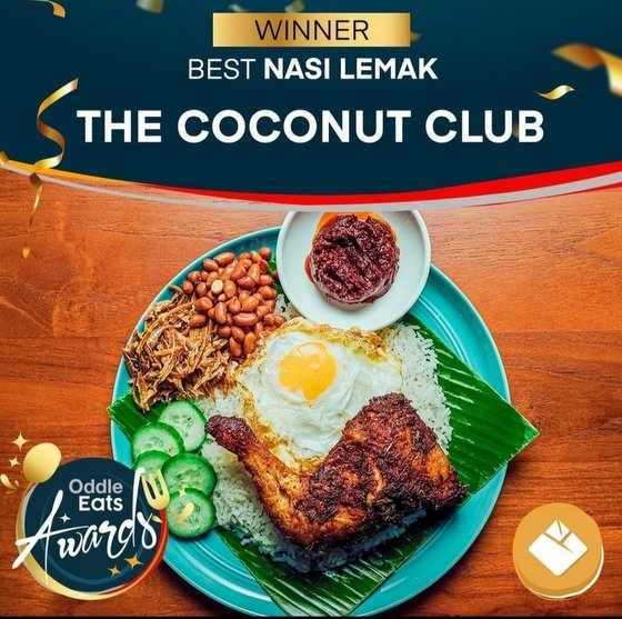 Nasi Lemak in Singapore - The Coconut Club.