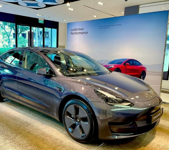 Tesla Showroom in Singapore - Raffles City - ONE Assembly.